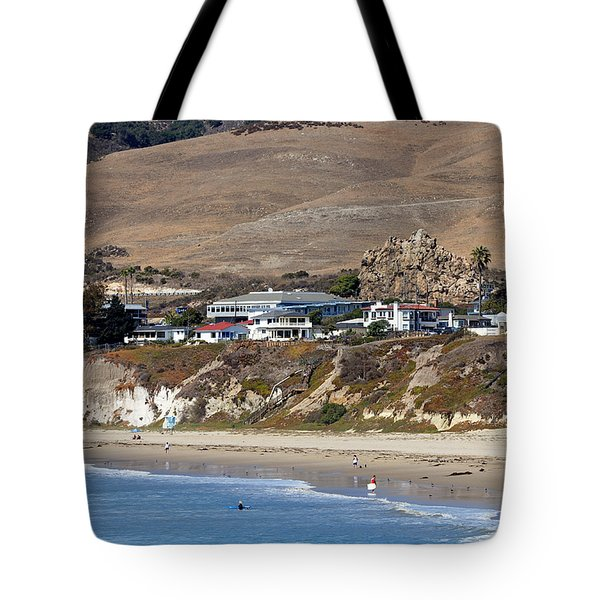 Ancient Sea Stack At Pismo Beach Tote Bag by Susan Wiedmann