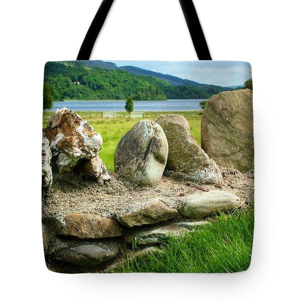 Ancient Stone Wall At Loch Achray Tote Bag