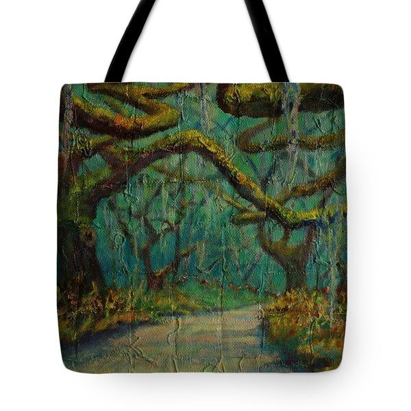 Tote Bag featuring the painting Ancient Tapestry by Dorothy Allston Rogers