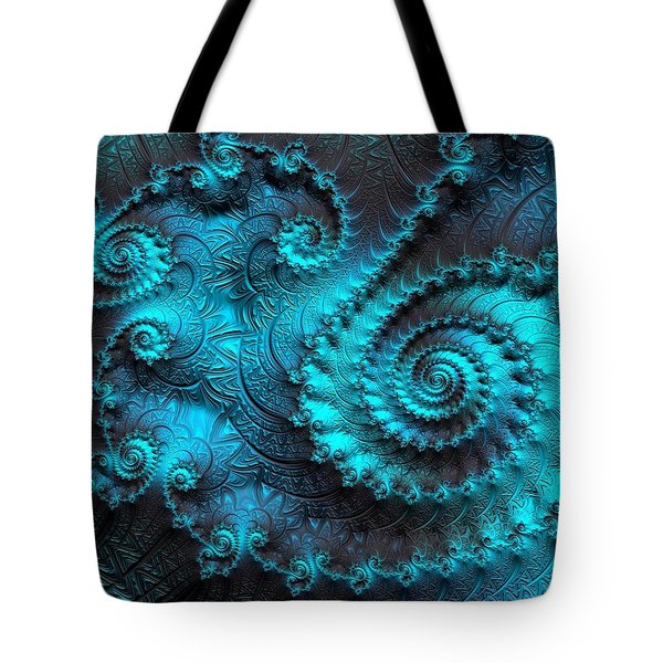Ancient Verdigris -- Triptych 2 Of 3 Tote Bag by Susan Maxwell Schmidt