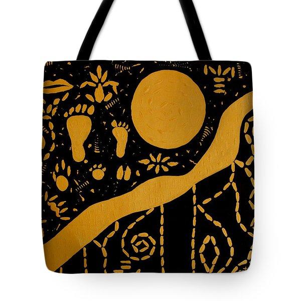 Ancient Worship Tribal Art Tote Bag by Georgeta  Blanaru
