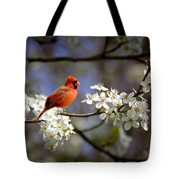And A Carninal In A Pear Tree Tote Bag