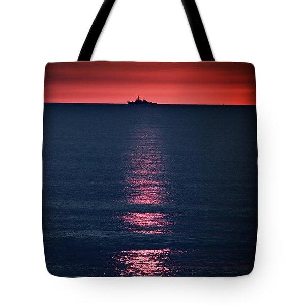 And All The Ships At Sea Tote Bag