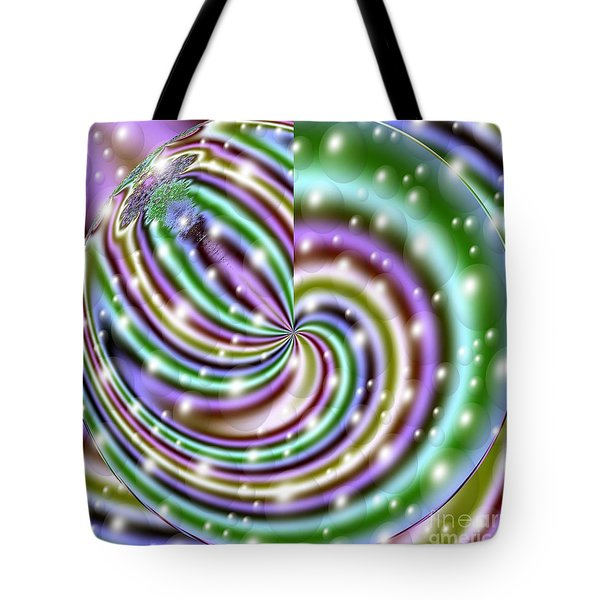 Tote Bag featuring the digital art And He Called Them Stars by Luther Fine Art