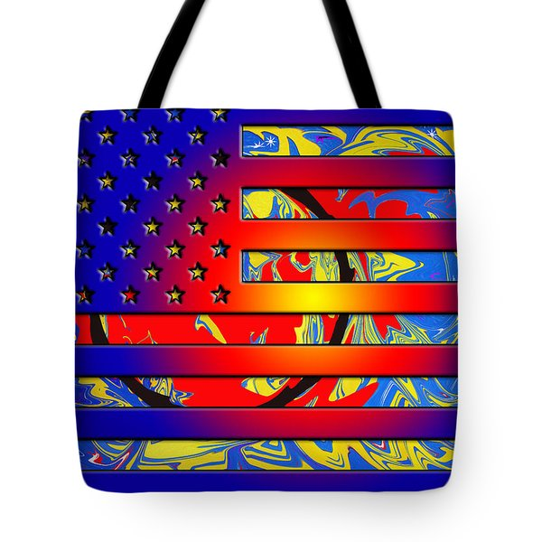 And The Flag Still Stands Tote Bag by Robert Margetts