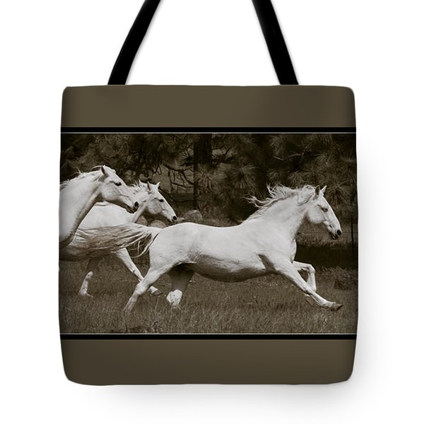 And The Race Is On Tote Bag by Wes and Dotty Weber