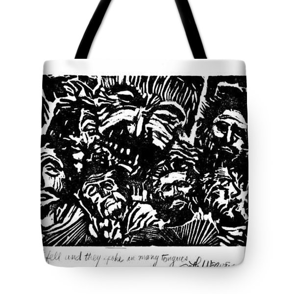 And The Spirit Fell Tote Bag by Seth Weaver