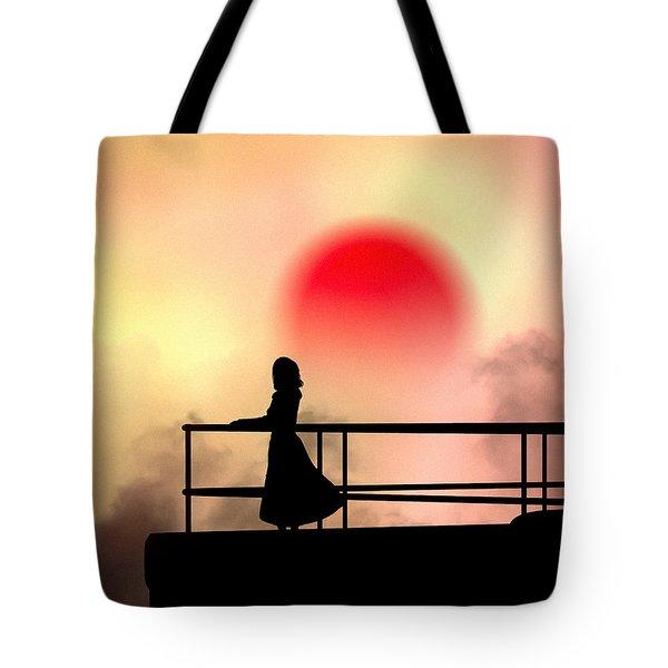 And The Sun Also Rises Tote Bag by Bob Orsillo