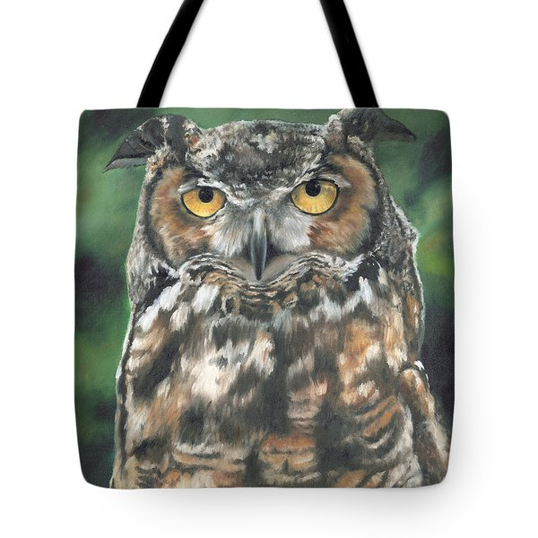Tote Bag featuring the painting And You Were Saying by Lori Brackett