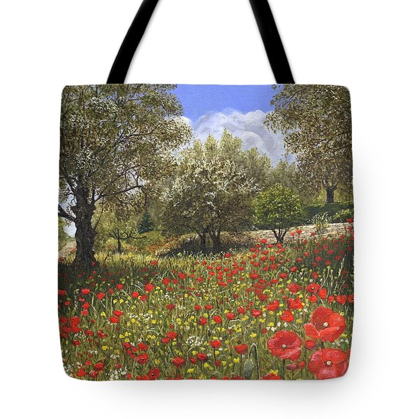 Andalucian Poppies Tote Bag by Richard Harpum