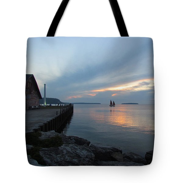 Anderson Dock Sunset Tote Bag