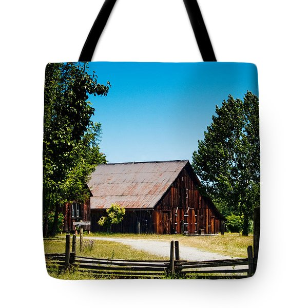 Anderson Valley Barn Tote Bag by Bill Gallagher