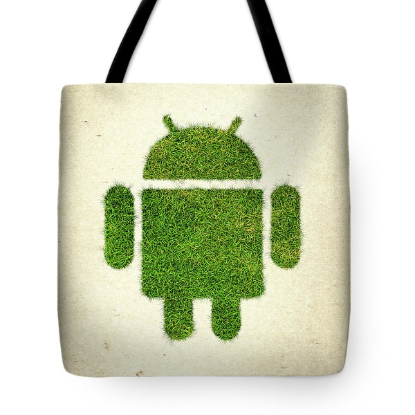 Andoird Grass Logo Tote Bag by Aged Pixel