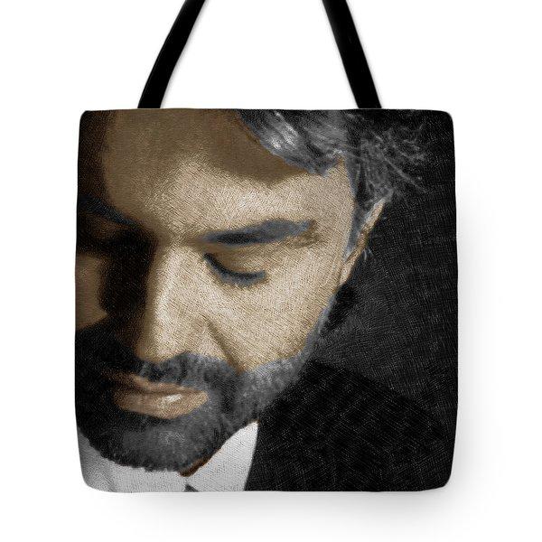 Andrea Bocelli And Square Tote Bag