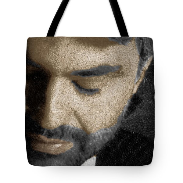 Andrea Bocelli And Vertical Tote Bag