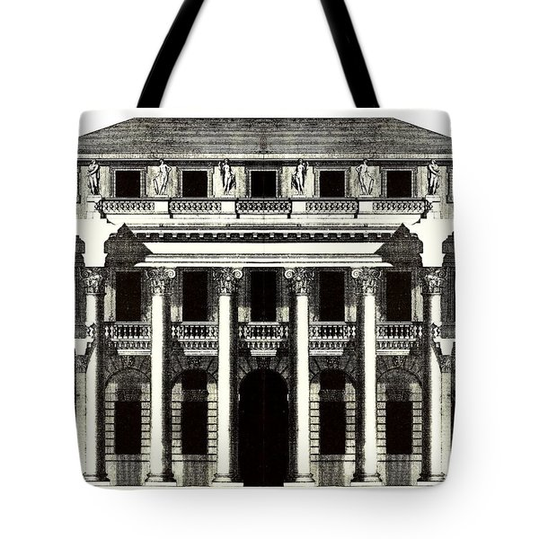 Tote Bag featuring the photograph Chiericati House Plan Andrea Palladio by Suzanne Powers