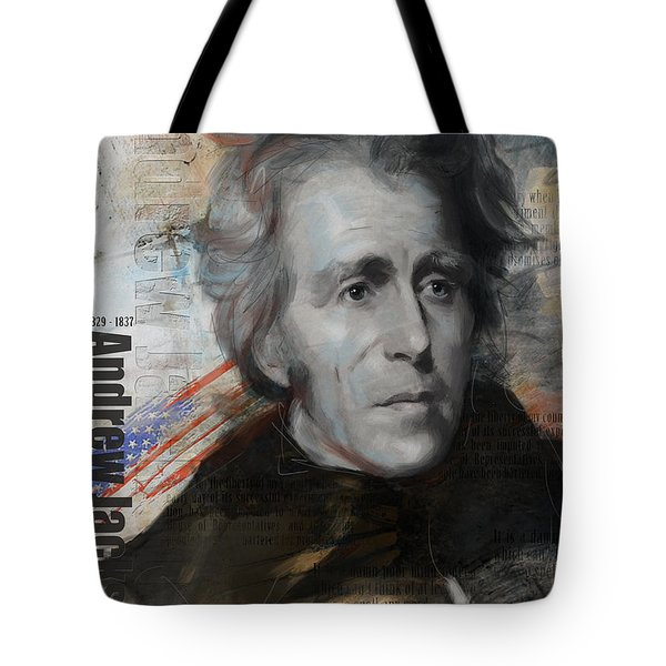 Andrew Jackson Tote Bag by Corporate Art Task Force