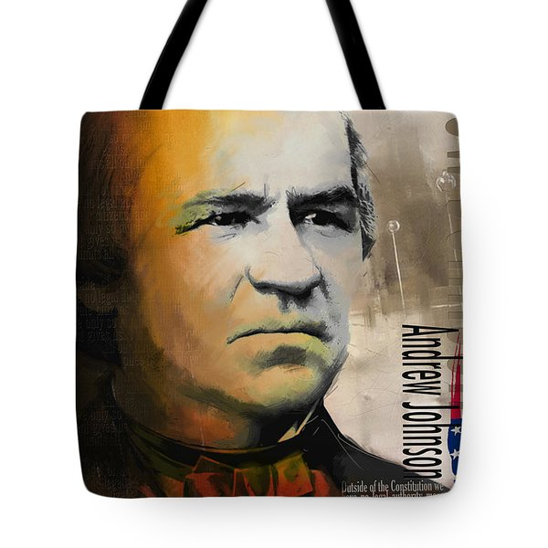 Andrew Johnson Tote Bag by Corporate Art Task Force