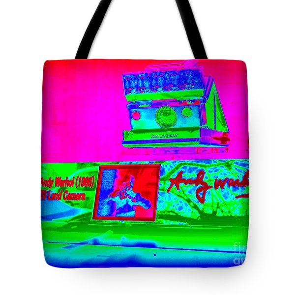 Andy Warhols Polaroid Tote Bag by Ed Weidman
