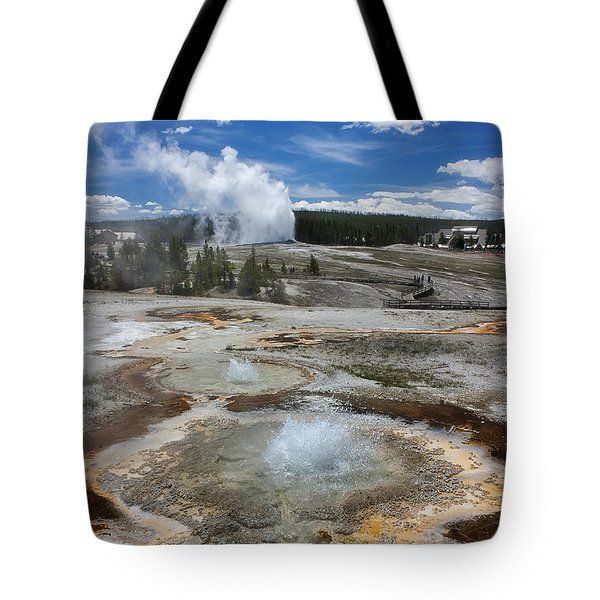 Anemone And Old Faithful In Concert Tote Bag