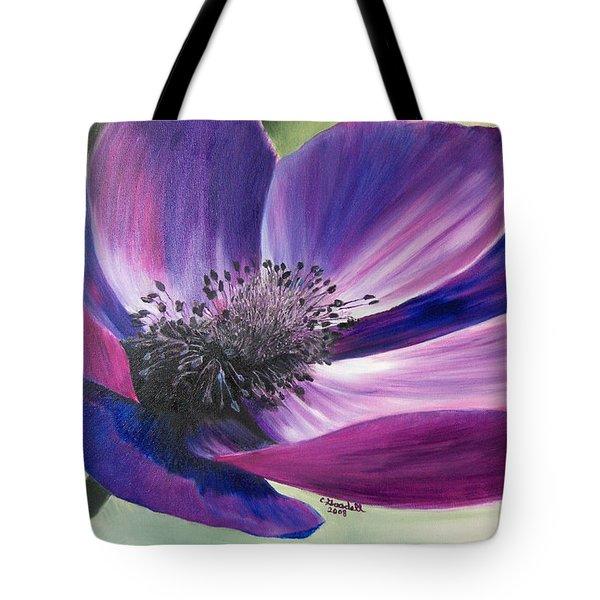 Anemone Coronaria Tote Bag by Claudia Goodell