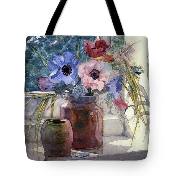 Anemones Tote Bag by Julia Rowntree