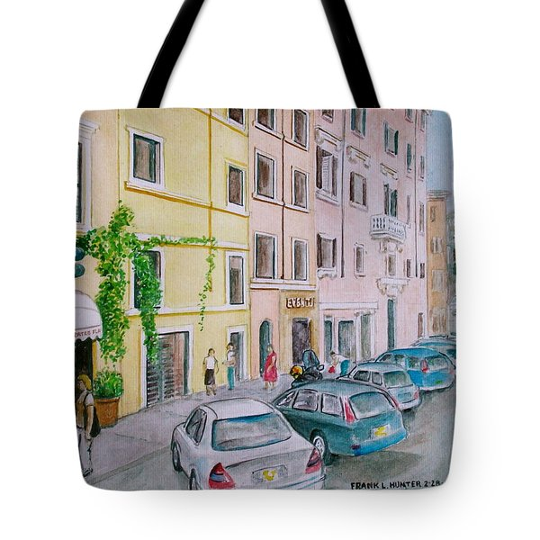 Anfiteatro Hotel Rome Italy Tote Bag by Frank Hunter