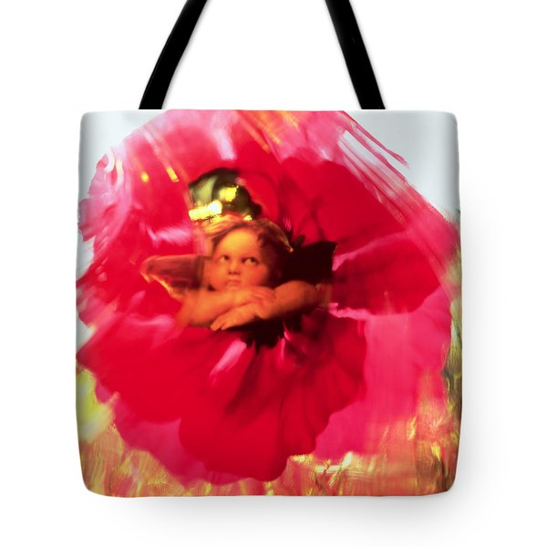 Angel And Poppy Tote Bag by Katherine Fawssett