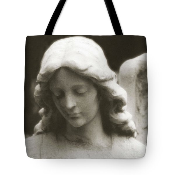 Angel Art - Ethereal Dreamy Angel Guardian Angel - Face Of An Angel Tote Bag
