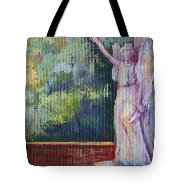 Angel Awaiting The Resurrection Tote Bag