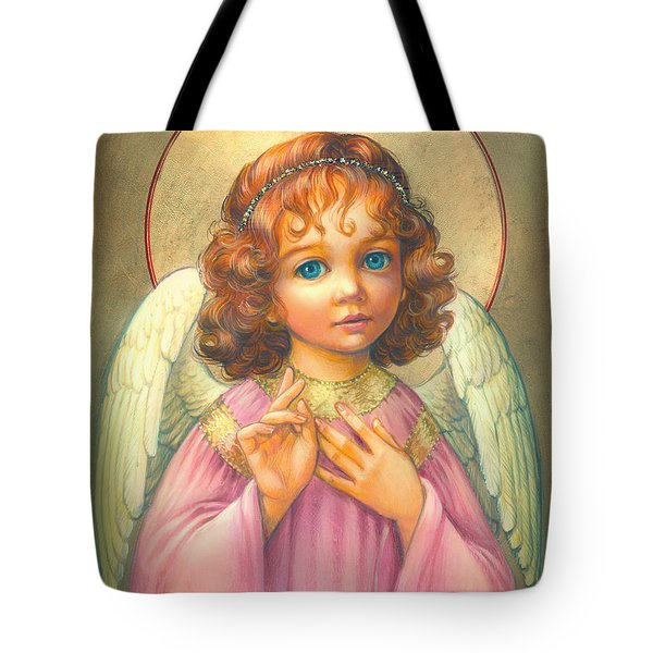 Angel Child Tote Bag by Zorina Baldescu