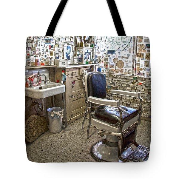 Angel Delgadillo's Barber Shop Tote Bag