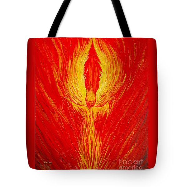 Angel Fire Tote Bag