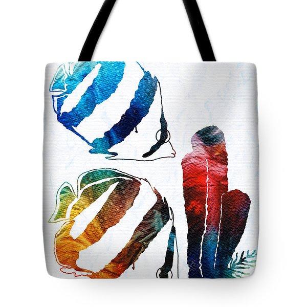 Angel Fish Art - Little Angels 2 - By Sharon Cummings  Tote Bag