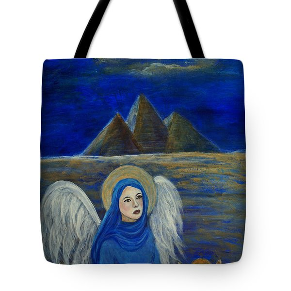 Angel From Eygpt Called Lapis Lazueli Tote Bag by The Art With A Heart By Charlotte Phillips
