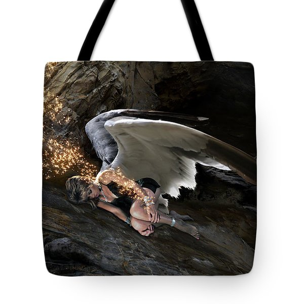 Angel- Give Your Worries To The Father Tote Bag
