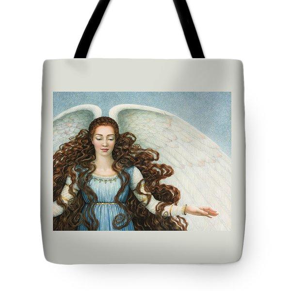 Angel In A Blue Dress Tote Bag