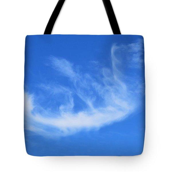 Angel In Flight Cloud Tote Bag