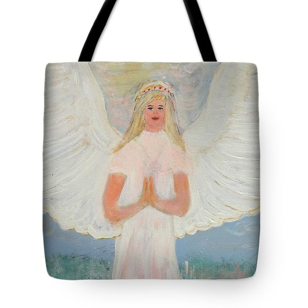 Angel In Prayer Tote Bag