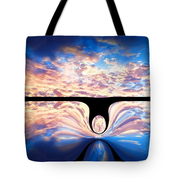 Angel In The Sky Tote Bag by Alec Drake