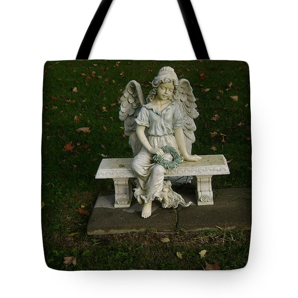 The Angel Is Watching Over Tote Bag