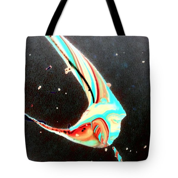 Tote Bag featuring the painting Angel by Jacqueline McReynolds