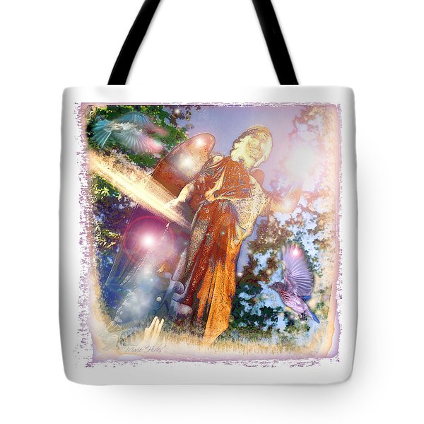 Tote Bag featuring the photograph Angel Light by Marie Hicks