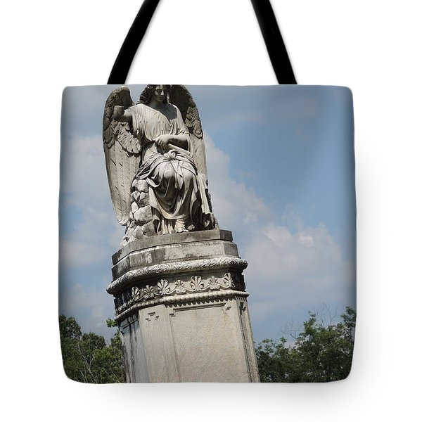 Tote Bag featuring the photograph Angel Made From Stone by Aaron Martens