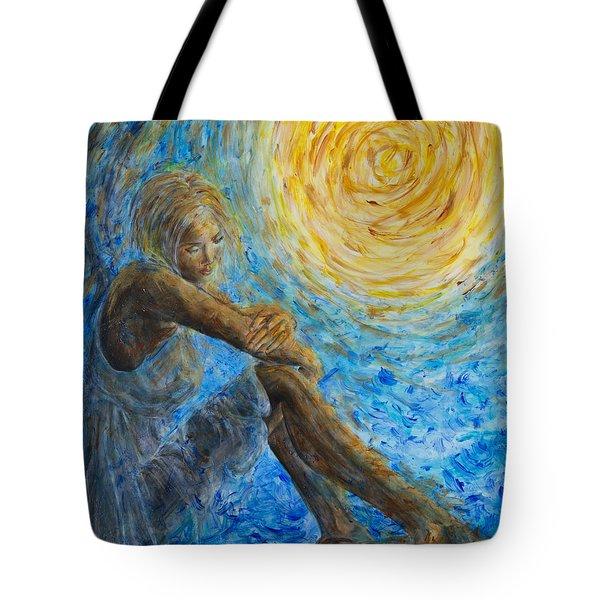 Angel Moon II Tote Bag by Nik Helbig