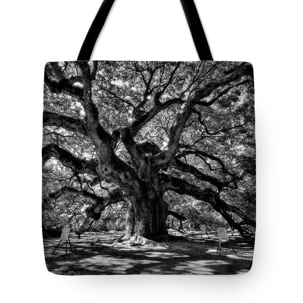 Tote Bag featuring the photograph Angel Oak 002 by Lance Vaughn