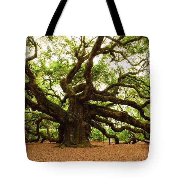 Tote Bag featuring the photograph Angel Oak Tree 2009 by Louis Dallara