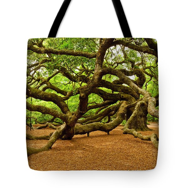Tote Bag featuring the photograph Angel Oak Tree Branches by Louis Dallara