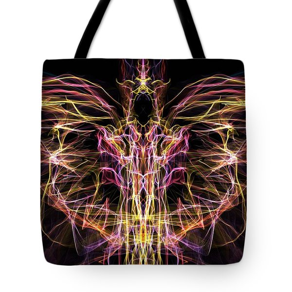 Tote Bag featuring the digital art Angel Of Death by Lilia D