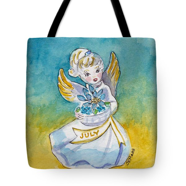 Angel Of July Tote Bag by Julie Maas